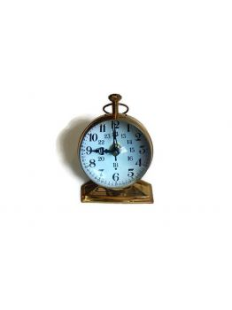 6 inches Antique Maritime Brass Trophy Desk Clock Nautical Table Clock