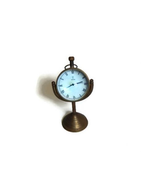 Antique Maritime 5.5 inches Beautiful Moon Wind Mechanism Desk Clock
