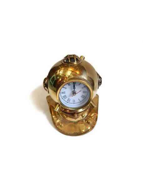 Antique Maritime 5.5 inches Beautiful Moon Wind Mechanism Desk Clock