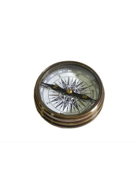 Nautical Maritime Brass Poem Compass 2 Inches Marine Collectible