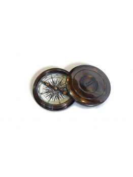 Nautical Maritime Antiques Compass With Magnifying Glass Collectible Decor