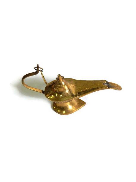 5 inches Brass Aladdin Genie Lamps: Incense Burners