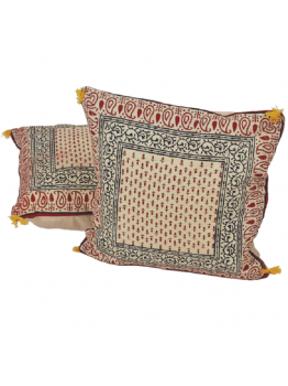 Retro Cushion Covers Cotton Hand Block Printed set