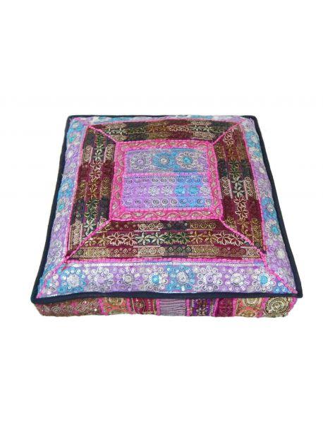 Mica 24 inch Handmade floor pillow - -