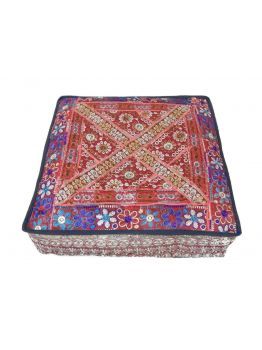 Landro Handmade Red Floor Pillow