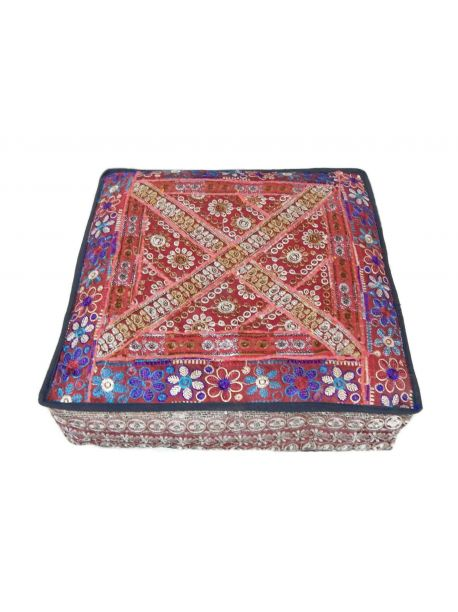 Landro Handmade Red Floor Pillow -  -