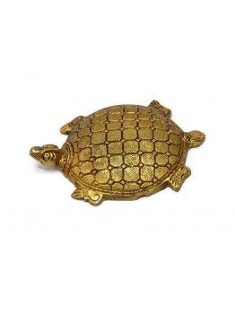 Lucky Charm Brass Tortoise