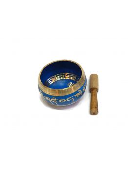 Happy Feel Blue Brass Singing Bowl