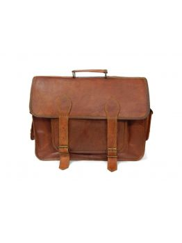 Handmade Dark Brown Leather Satchel