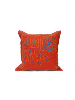 Cushion Covers Brocade Multi -Colour Set