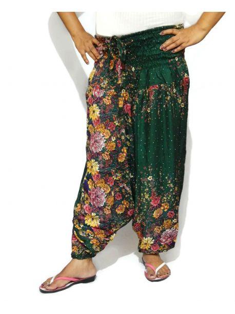 Handmade Floral Harem Pants
