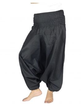 Life Is a Teacher Black Harem Pants Womens