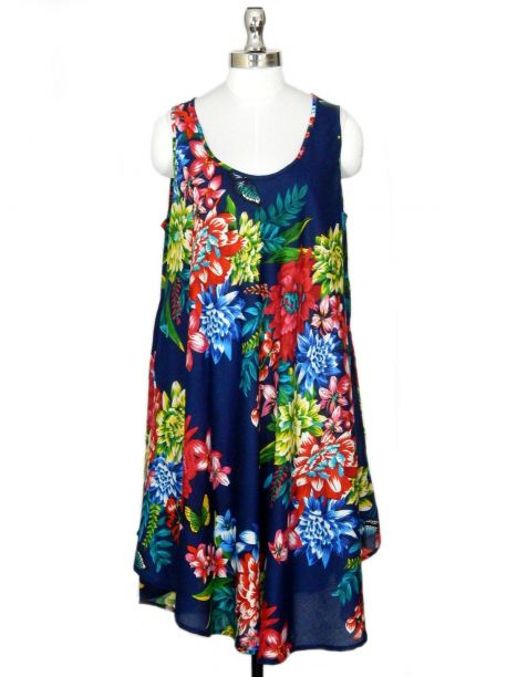 Hawaiian Sleeveless Floral Dress