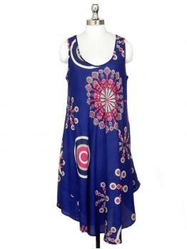 Fethers Blue Beach Cover up Dress