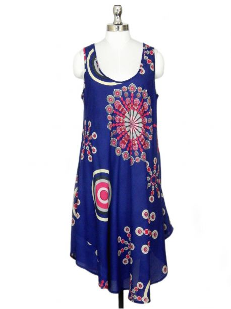 Fethers Blue Beach Cover up Dress -  -