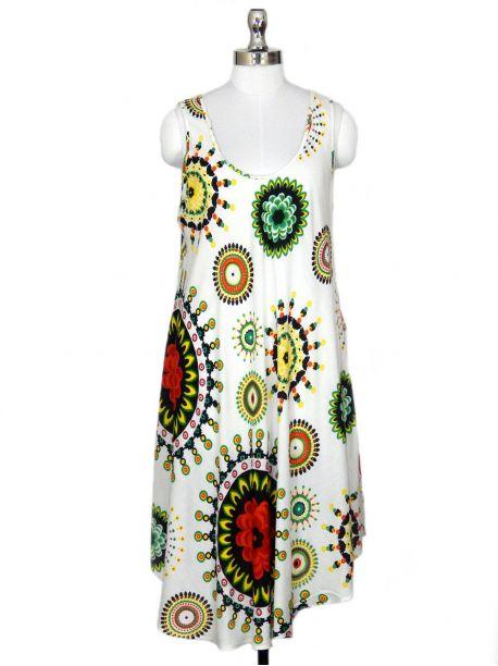 Mondray Sleeveless Tunic Dress -  -