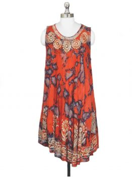 Nacho Sleeveless Vintage Dress -  -
