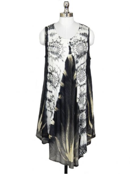Vesper Sleeveless Tie Dye Dress -  -