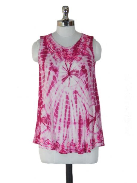 Goarji Pink Sleeveless Top -  -