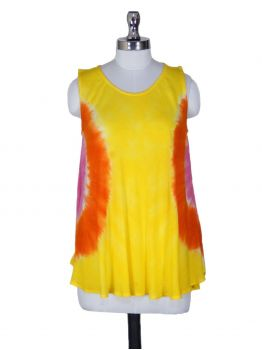 Rangoon Sleeveless Tie Dye Blouse