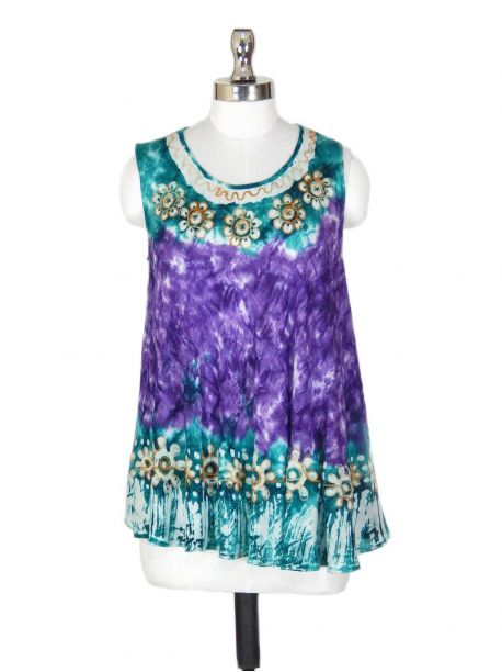 Laira Embroidered Sleeveless Top -  -