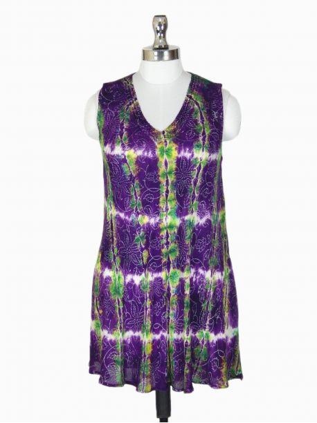 Batik Tie Dye Tank Top - -