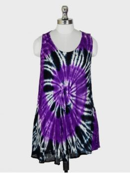 Roma Purple Sleeveless Top -  -