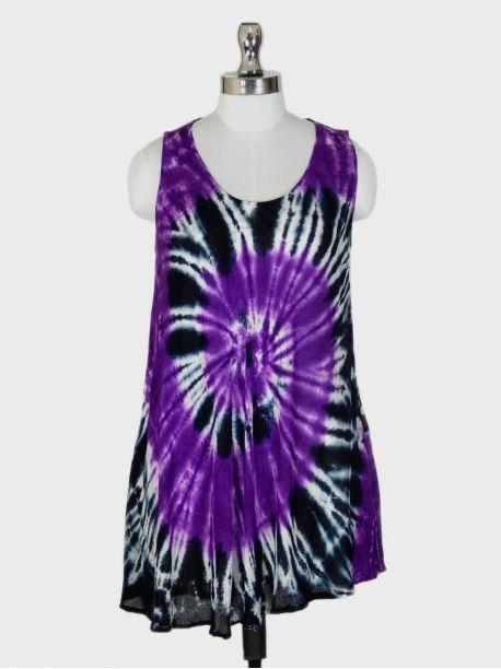 Roma Purple Sleeveless Top