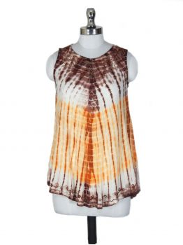 Victor Relaxed Fit Sleeveless Blouse -  -