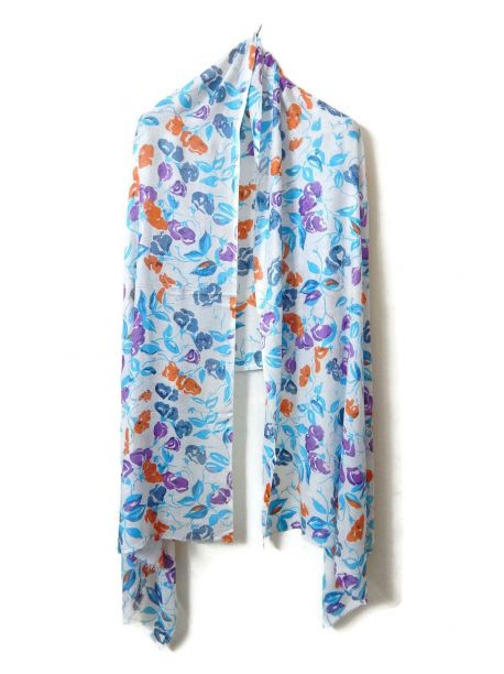 Elentra Cotton Scarves With Firnge -  -