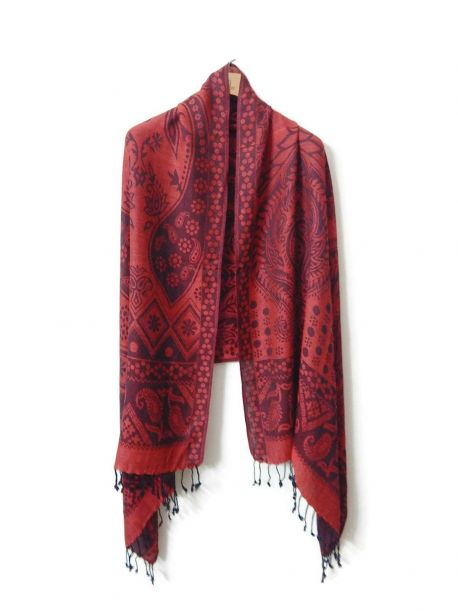 Bavri Red and Black Scarves -  -