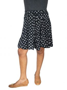 Tona womens black mini skirt