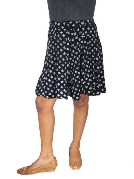 Tona womens black mini skirt -  -