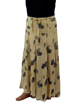 Riely a line long skirt