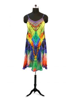Branden Short Kaftan Dress -  -