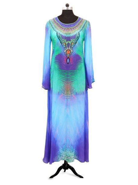 Simon Long Sleeve Designer Kaftans -  -