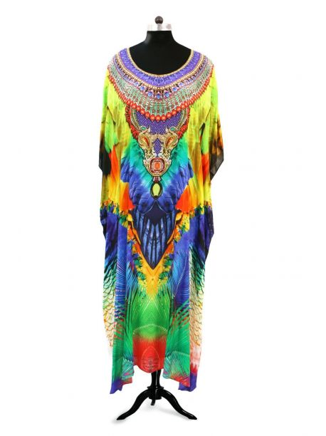 Miling Fancy Round Neck Kaftan Dress -  -