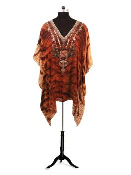 Thorpe Printed Kaftan Tops -  -