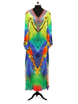Farina Long Sleeve Kaftan Dress -  -