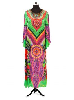 Deep Sea Kaftan Beach Dress -  -