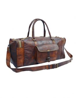 Live Life King Size Leather Duffle Bags