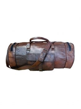 Handmade Leather Weekend Duffel Travel Bag