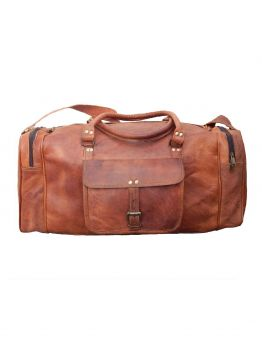 Leather Travel Sport Gym Bag