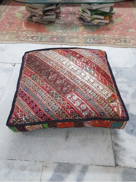 Lonavo Round Bed Floor Pillow - -