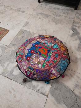 Nena Round Floor Pillow Cushion - -