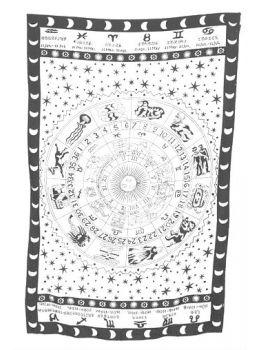Zodiac Hippie Wall Hanging Tapestry Throw Bedspread Décor