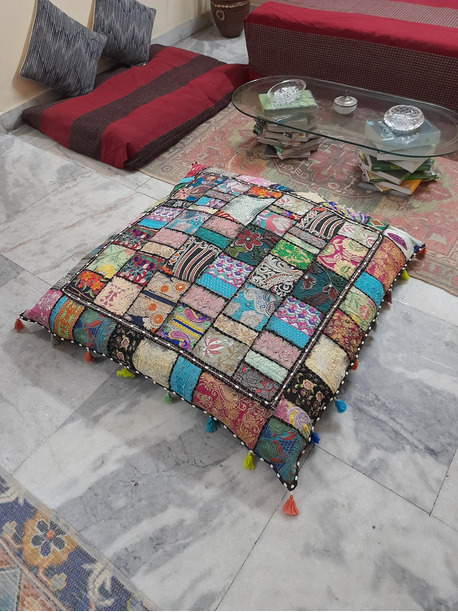 Maggie Large Floor Pillow Cushion - -