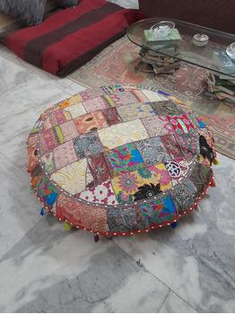 Janine Round Floor Pillow Covers