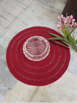 Boho red placemats