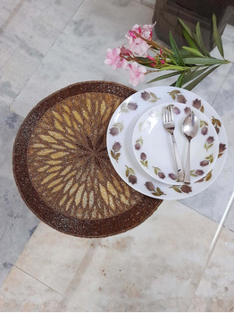 Hind Beaded gold placemats